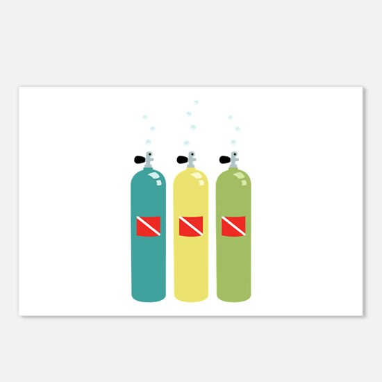 Scuba Tanks Postcards (Package of 8)