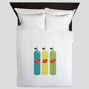 Scuba Tanks Queen Duvet