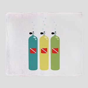 Scuba Tanks Throw Blanket