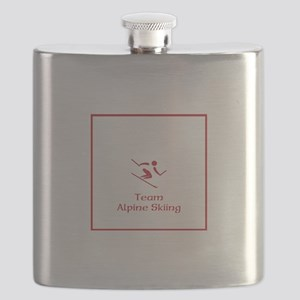 Team Alpine Skiing Red Flask