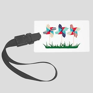 Patriotic Pinwheels Luggage Tag