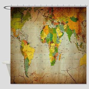 World Map V Shower Curtain