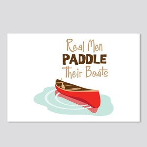 Real Men PADDLE Their boats Postcards (Package of