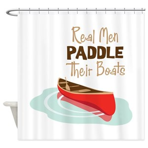 Canoe Paddle Boat Shower Curtains