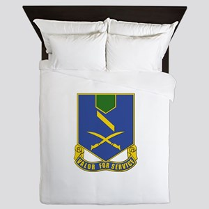 DUI - 137th Infantry Regiment Queen Duvet
