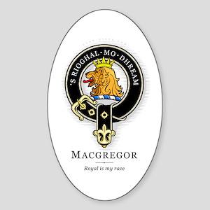 Clan MacGregor Oval Sticker