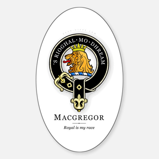 Clan MacGregor Oval Decal
