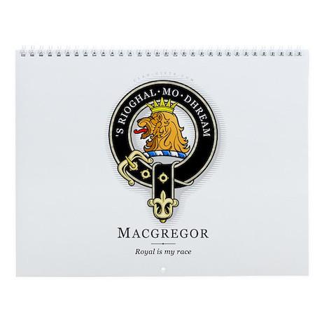 Clan MacGregor Wall Calendar