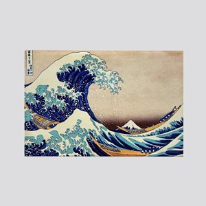 Great Wave Off Kanagawa Rectangle Magnet