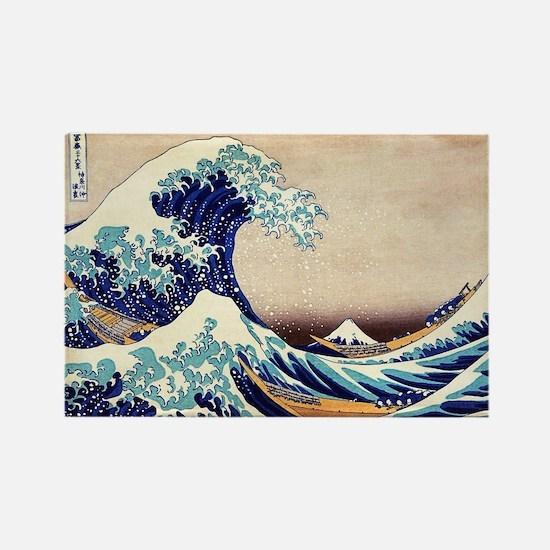 Great Wave Off Kanagawa Rectangle Magnet