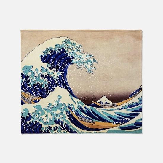 Great Wave Off Kanagawa Throw Blanket