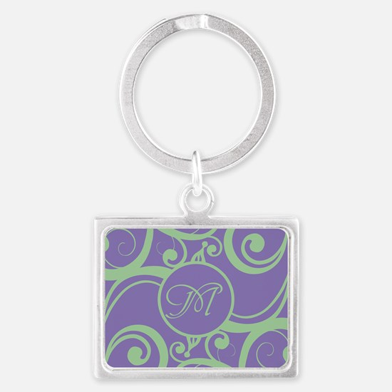 Your Monogram Whimsy Purple Keychains