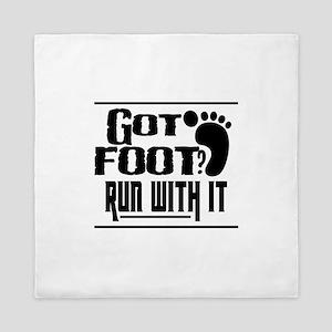 Run With Foot Queen Duvet