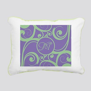 Your Monogram Whimsy Purple Canvas Pillow