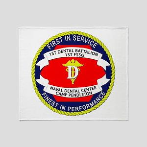 1st Dental Company Throw Blanket