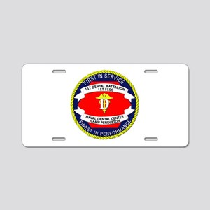 1st Dental Company Aluminum License Plate