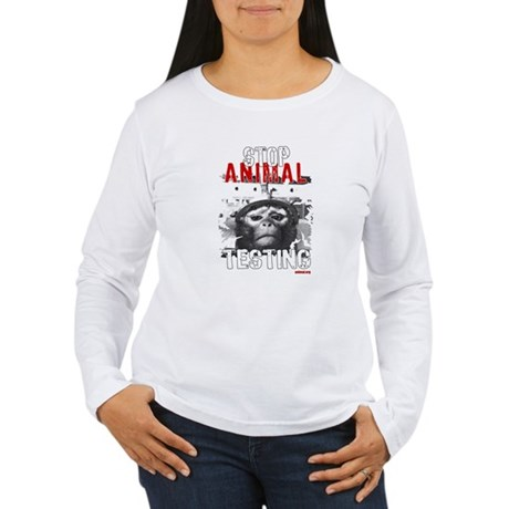 STOP ANIMAL TESTING - Long Sleeve T-Shirt