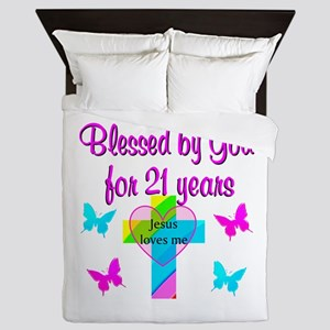BLESSED 21 YR OLD Queen Duvet