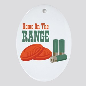 Home On The Range Ornament (Oval)