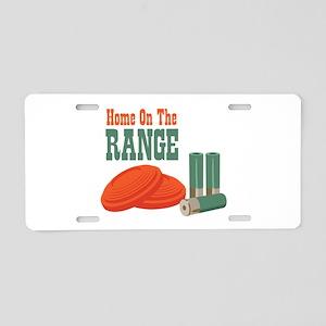 Home On The Range Aluminum License Plate