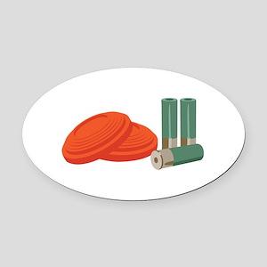 Clays Shells Oval Car Magnet