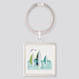 Sail Boat Race Keychains