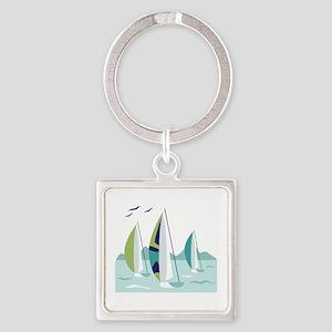 Sail Boat Race Keychains