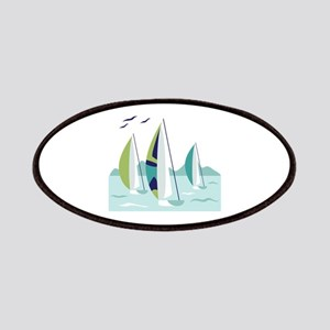 Sail Boat Race Patches