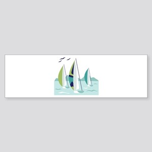Sail Boat Race Bumper Sticker