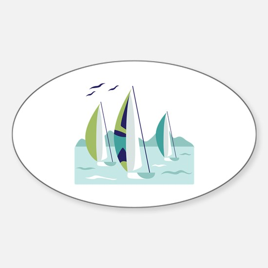 Sail Boat Race Decal