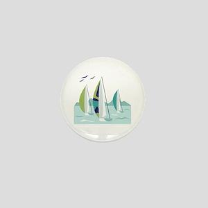 Sail Boat Race Mini Button