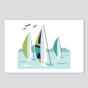 Sail Boat Race Postcards (Package of 8)