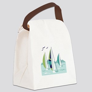 Sail Boat Race Canvas Lunch Bag
