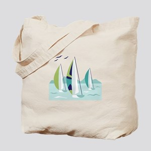 Sail Boat Race Tote Bag