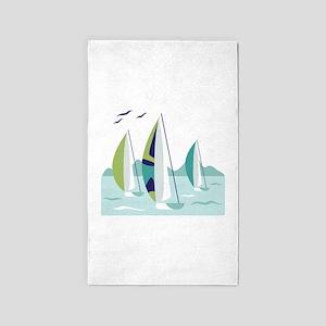 Sail Boat Race 3'x5' Area Rug
