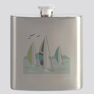 Sail Boat Race Flask