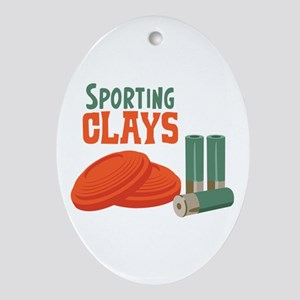 Sporting Clays Ornament (Oval)