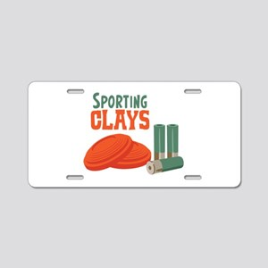 Sporting Clays Aluminum License Plate
