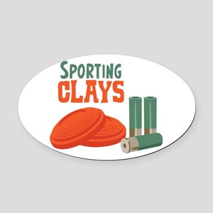 Sporting Clays Oval Car Magnet