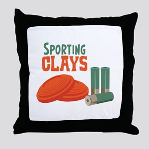 Sporting Clays Throw Pillow