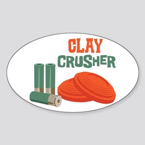 Clay Crusher Sticker