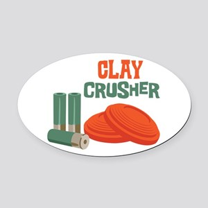 Clay Crusher Oval Car Magnet