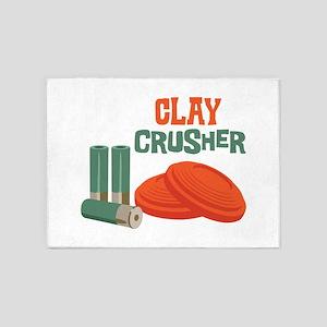 Clay Crusher 5'x7'Area Rug