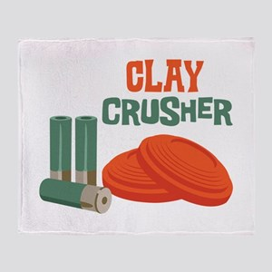 Clay Crusher Throw Blanket