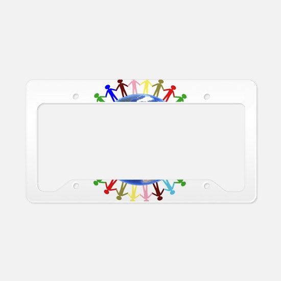 One Earth - One People License Plate Holder