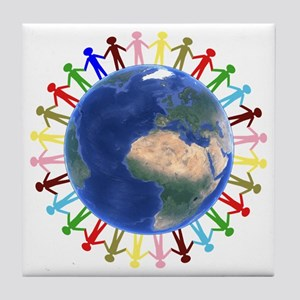 One Earth - One People Tile Coaster