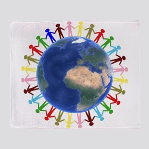 One Earth - One People Throw Blanket