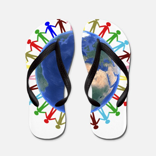 One Earth - One People Flip Flops