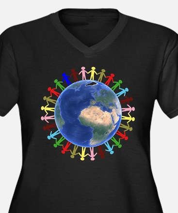 One Earth - One People Plus Size T-Shirt
