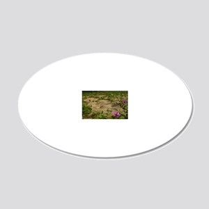 flowers 1 20x12 Oval Wall Decal